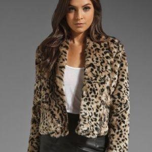 Jack BB Dakota Damian Leopard Fur Coat